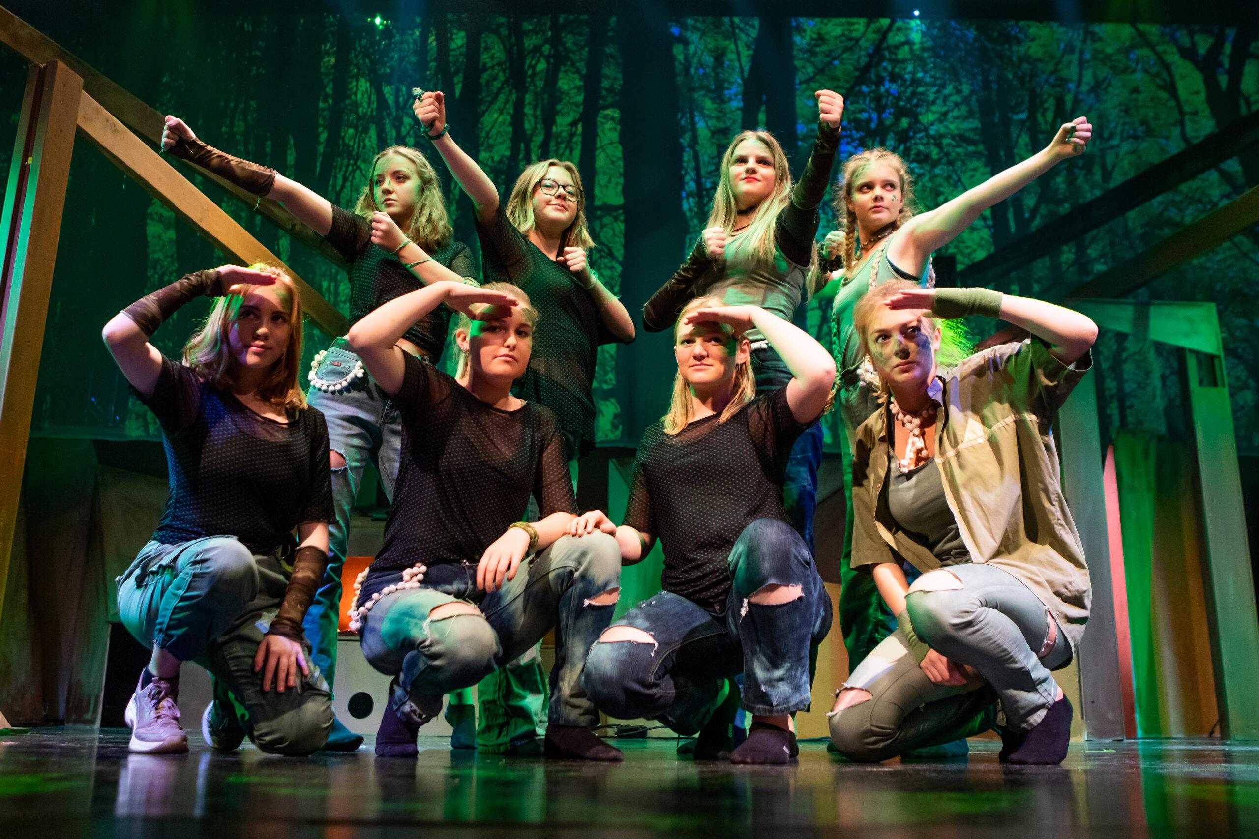 Dans til musical på Lunderskov Efterskole